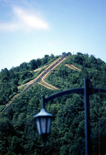 日本一のズリ山階段