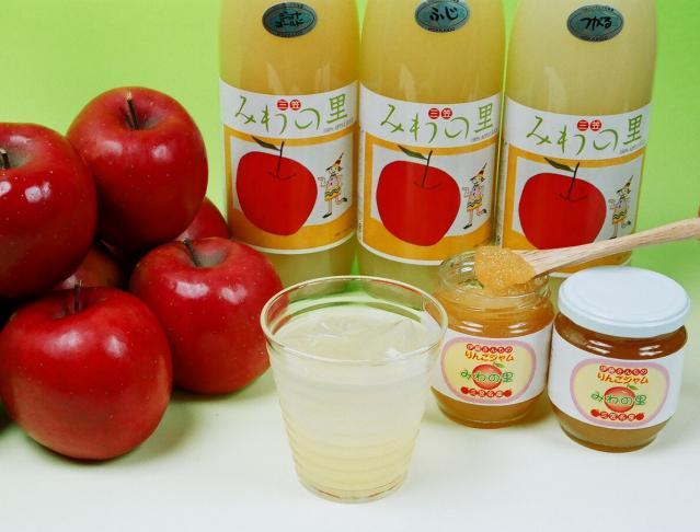 りんごジュース・りんごジャム「みわの里」