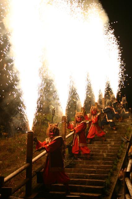 地獄谷の鬼花火