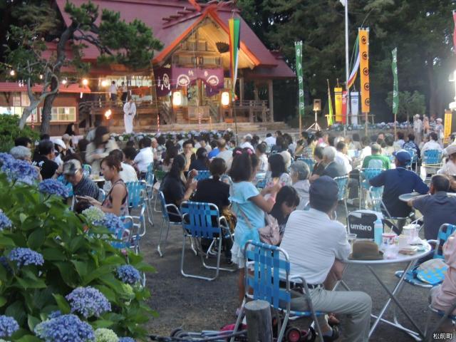 松前神社例大祭(あじさい祭り)