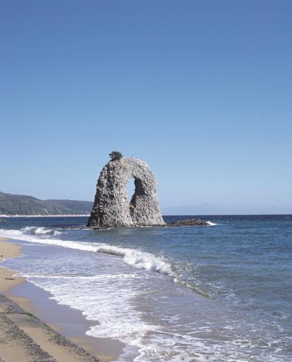 なべつる海岸海水浴適地