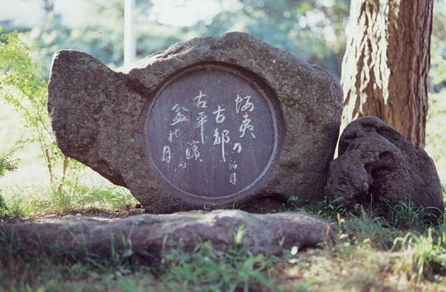 野村泊月句碑