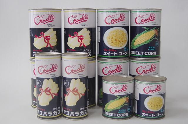 ホワイトアスパラガス・スイートコーン缶詰・ピクルス他