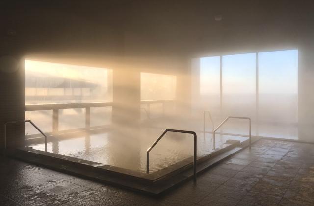 天然豊浦温泉 大浴場