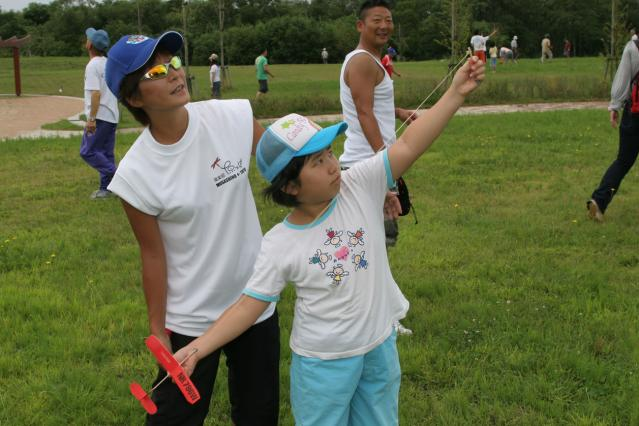 Of sky wait; the misawa sky Festa (Miss Beadle cup paper airplane meeting)