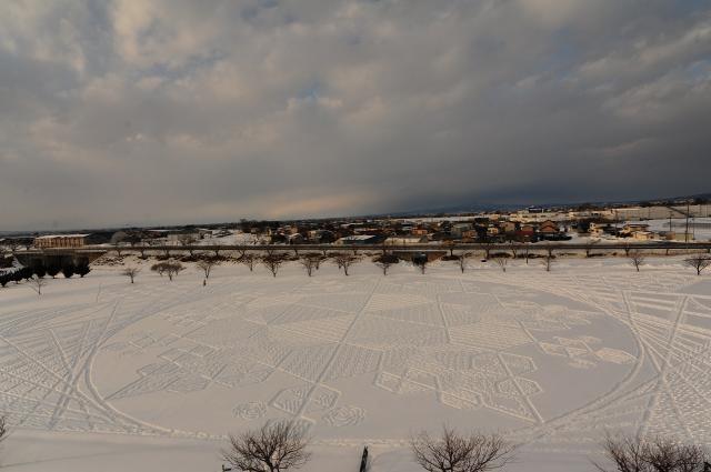 冬の田んぼアート