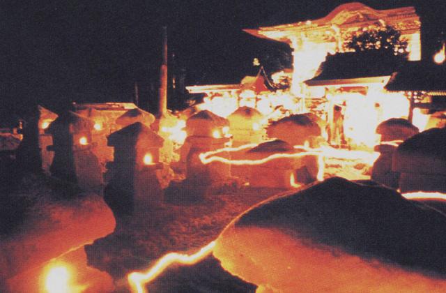 金峯山雪灯篭祭