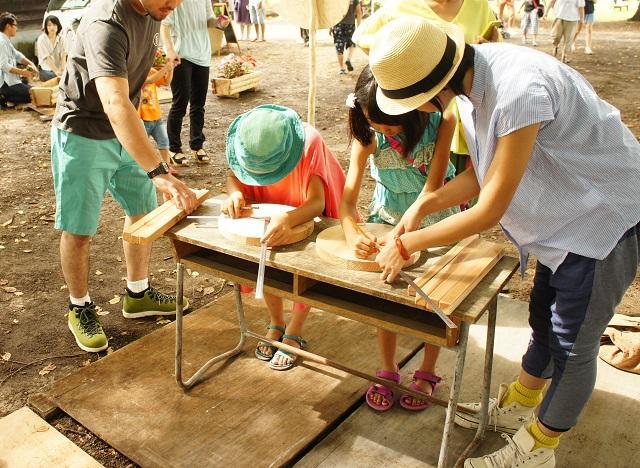 木工のワークショップなども人気