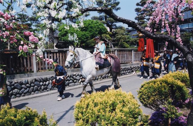 中山神社祭典 武者行列