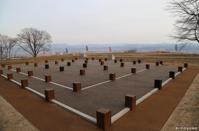 桑折西山城跡(本丸復元)