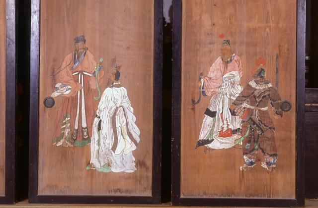西光寺の杉戸絵