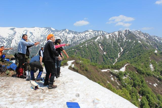 Kagamiyama opening of the mountaineering season