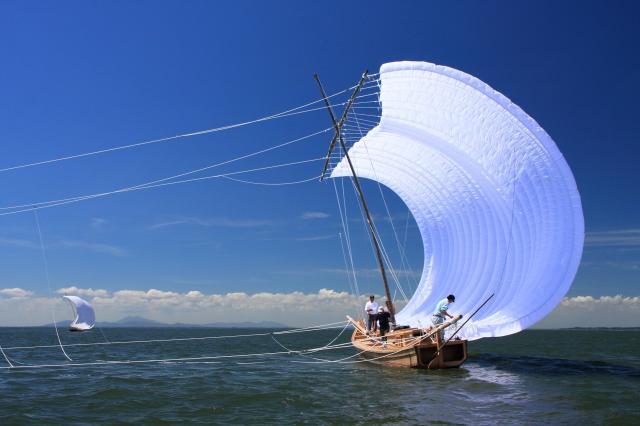 観光帆引き船(麻生地区)