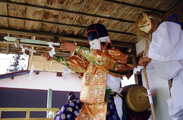 篠塚稲荷神社の神楽