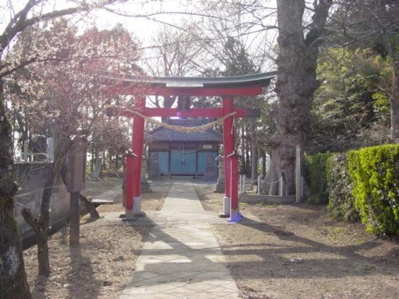 天神社鳥居と本堂