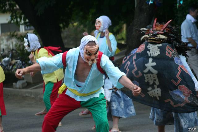東粂原鷲宮神社獅子舞