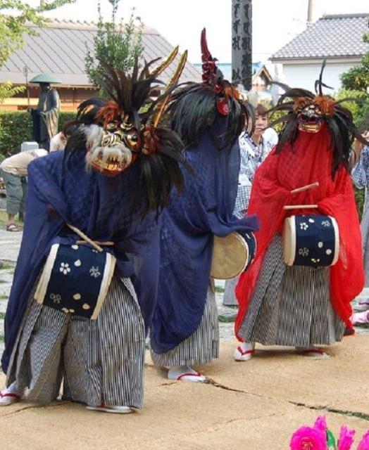 松伏神社nosasara舞獅子