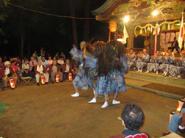 三匹の獅子舞(和名ヶ谷 日枝神社)