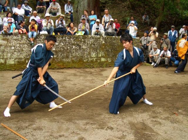 三島の棒術と羯鼓舞