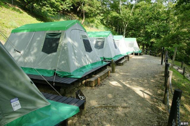 富津市民の森キャンプ場テント