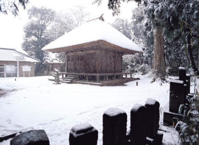 光堂の雪景