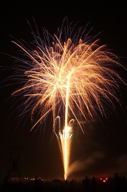 房総の夜空を彩る花火