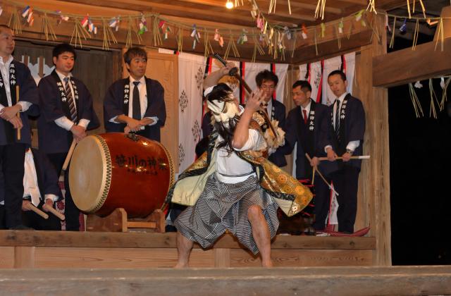 諏訪大神春季大祭(笹川の神楽)