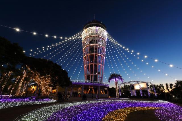 """給江之島上色的光和顏色的典禮""""湘南的寶石"""""""