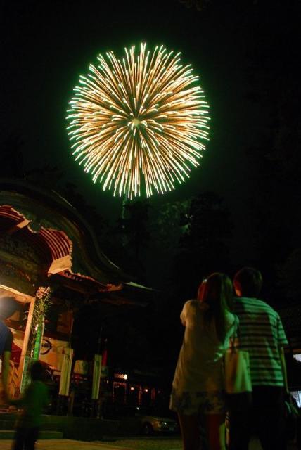 青海神社秋季祭礼(奉納花火)