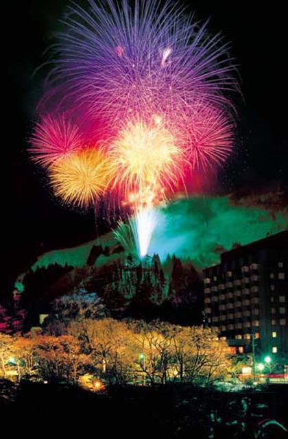 Unazuki Onsen, The Winter's Tale, Fireworks in Snowy Area★16404ba2210026785