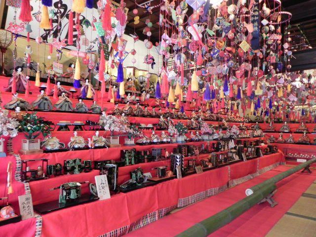 Hina Dolls Exhibition and Peach Blossom Festival at Enzan, Koshu City