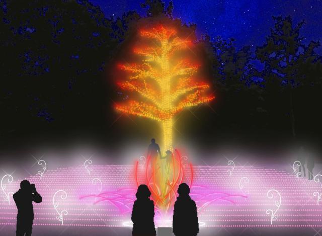 ツインイルミネーション「光の森のページェント」