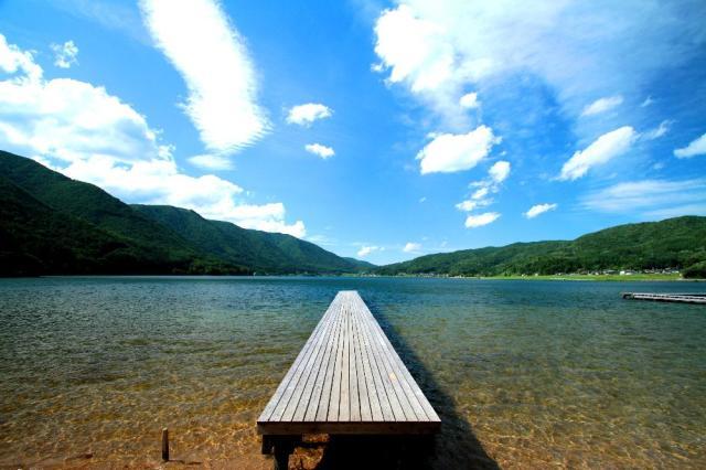 木崎湖(星湖亭)