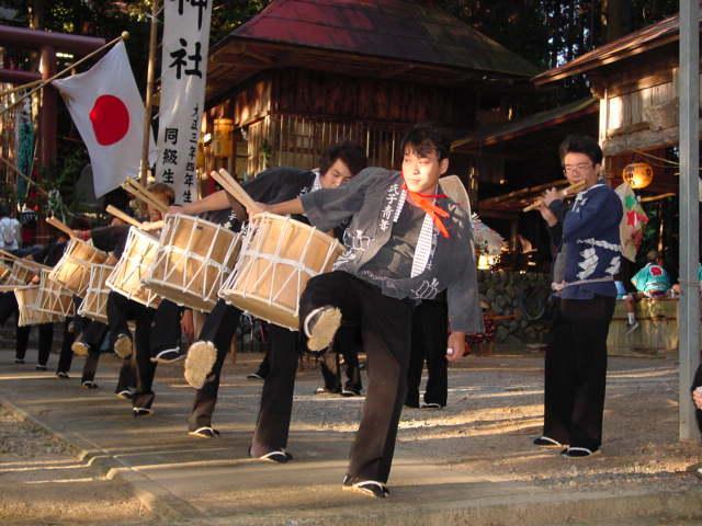 満島神社の秋祭り