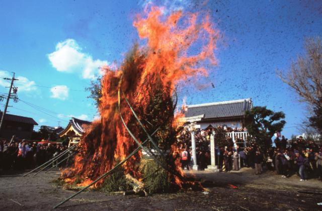 Sagicho at Imao-jinja Shrine (Fire Festival)
