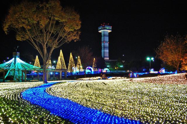 木曽三川公園冬の光物語