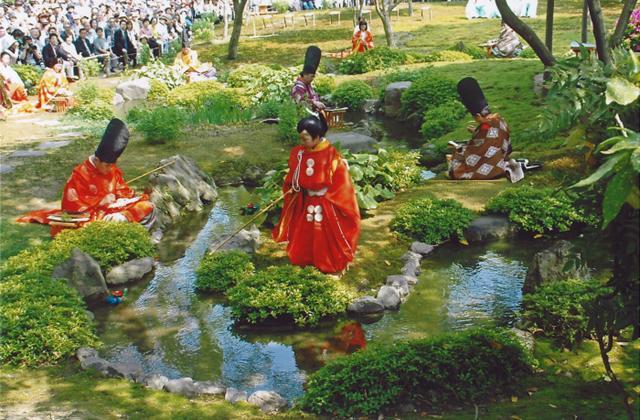 Kyokusui no En (Tanka ( poetry) Festival held in the garden★40221ba2210027218