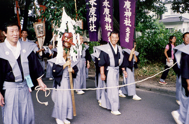 水度神社定期的祭祀