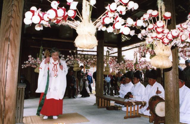 餅花(相楽神社)