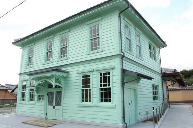 Tsujikawa neighborhood history, culture building (old Tsujikawa post office)