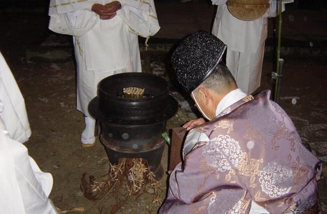 粥占い(筒粥祭)