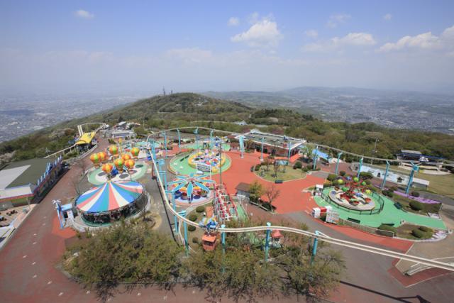 在生駒山上遊樂場