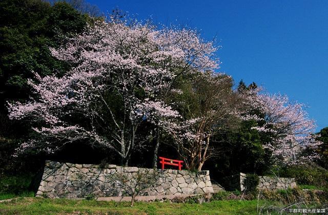 石床神社旧社地