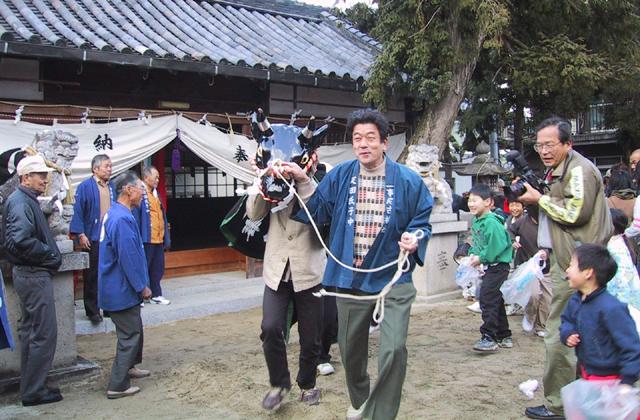 調田坐一事尼古神社のおんだ祭り