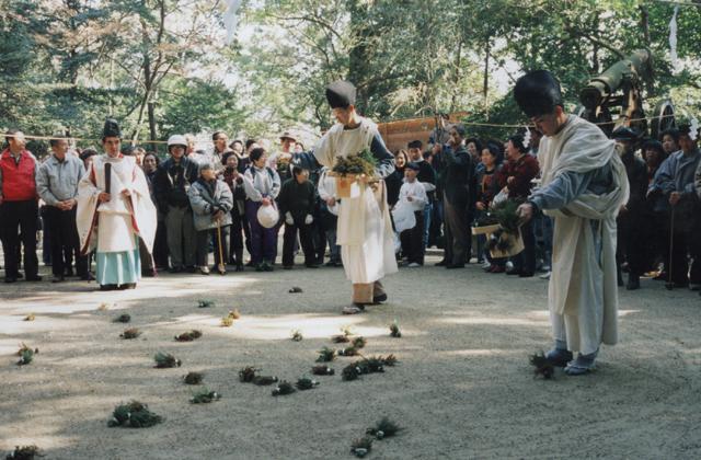 【2021年は関係者のみ】葛木坐火雷神社のおんだ祭り