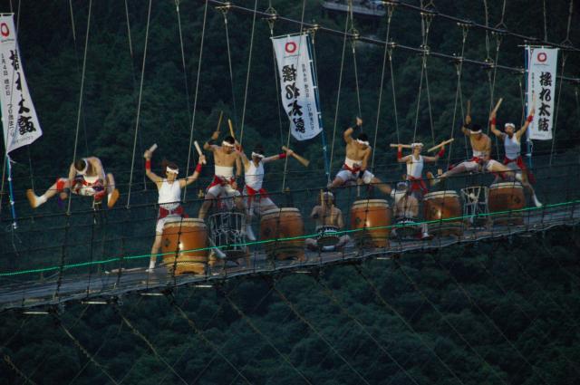 【2021年中止】つり橋まつり 揺れ太鼓