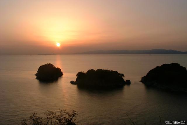 夕日を見る会-雑賀崎 ぶらぶら散歩-