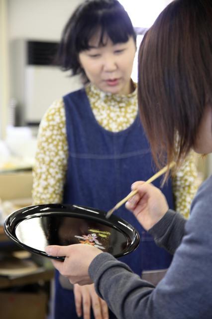紀州漆器 蒔絵体験