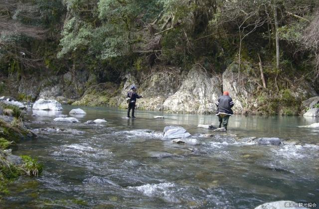 玉川峡の釣り