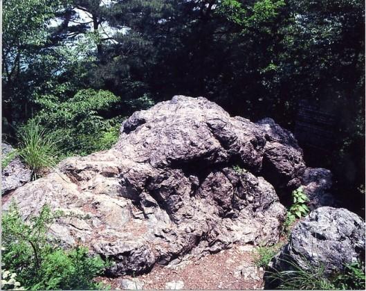 龍門山の蛇紋岩(磁石岩)